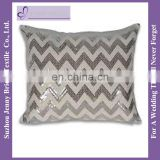 SQP014 wholesale fancy chevron sequin fabric design christmas pillow covers