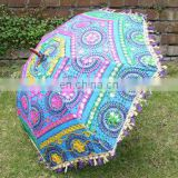 Indian Embroidery Home decor Art Parasol Vintage Decor Garden Umbrella Big Garden Umbrella Patio Colorful cotton Handmade work