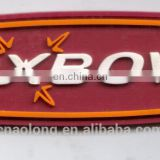 cheapest make soft pvc clothing label,rubber garment label and tag with custom logo