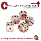 Manufacturer metal 6 sides casino custom dice set