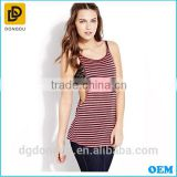 Wholesale Pretty Quality 100% Cotton Fashion Sexy Striped T-shirt