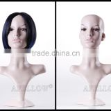 Men Head mannequin Dispaly Jewelry/ hat /scarf/wig Plastic Male Realistic head manikin,Cheaper Head MannequinH1021