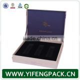 High quality elegant matt white magnet closure cardboard packaging cosmetic box with EVA insert