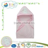 Cartoon lovely embroidery pattern baby hooded towel                                                                         Quality Choice