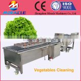 Factory price air bubble and spray vegetables washing/cleaning machine for vegetables factory use