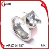 titanium rings for gemstone titanium silver 316l stainless steel silver rings silver ring diamond ring