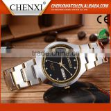 Promotion Gift CE RoHS Day/Date Couple Lover Wrist Watch Water Resistant Fashion Couple Wrist Watch