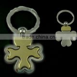 Cheap metal keyring wholesale , gold+silver plated ,with key ring fitting