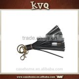 Custom Leather Tassel Keychain USB Charger Cable for Apple iphone Cable