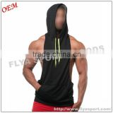100% cotton loose fit gym and fitness bodybuilding Y back stringer singlet wholesale sleeveless hoodie stringer vest                                                                                                         Supplier's Choice