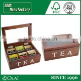 Recyclable fancy small wooden/bamboo tea set chest box for sale