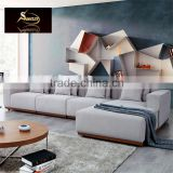 Modern Style Comfortable L Shape Grey Fabric Sofa Wood Base For Living Room Use Or wholesale