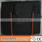 2013 fashion chinese polished black galaxy granite slab stone