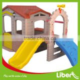 kids outdoor playhouse for sale,plastic children house, blow molding playhouse with slide LE.WS.013