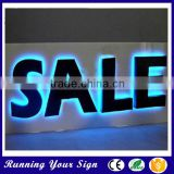 Catching eyes galvanized sheet paint colors backlit logo sign