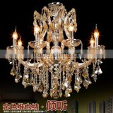 Maria Theresa LED Crystal Chandeliers Dining Room Coloured Glass Chandelier Hanging Pendant Lamp Lighting CZ6020/8