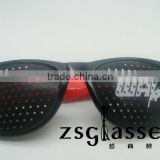 wholesale custom design funny pinhole glasses with logo lens/promotional pinhole glasses
