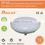 Bathroom modern led light 100-277VAC 220-240VAC IP65 Round 18W Microwave Sensor LED Ceiling Light