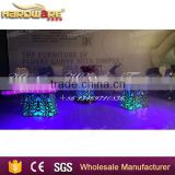 hotel luxury gold stainless steel half moon banquet dining table                                                                         Quality Choice