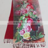 scarf and shawl wholesale 100% silk digital inkjet double layer scarf and shawl wholesale