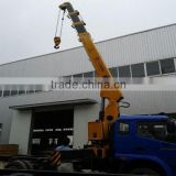 factory best price sale 8ton new swivel telescopic arm small lifting cranes for port deck lorry mounted on truck with ISO9001