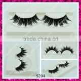 Wholesale cheap price synthetic false eyelash thick black colour double layer eyelashes Christmas gift lshes