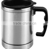 16 oz Travel Mug w/ Stainless Steel Interior&outer AS plastic with handle