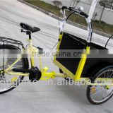 adult 3 wheel 6 speed front pedal cargo bike cheap tricycle