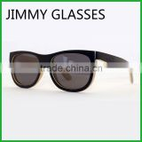 JM477 Black Bamboo Sunglasses Polarized Float on Water Grey Lens Wholesale China Eyeglasses
