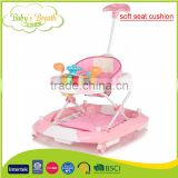BW-18B soft seat cushion pusher big baby walker rocker with intelligent music box