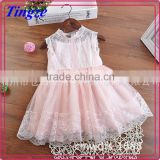Children summer clothing new korean design girls party dresses lace sleeveless kids dress
