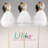"popular ""Bride & Groom"" honeycomb cocktail sticks decorated table                                                                         Quality Choice"