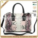CSS1525-001 China supplier snake skin leather bag 2016 new laptop bag Python women handbags