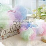 wholesalecoll ball bath towel bath sponge flower scrubber body cleaing mesh shower wash ponge