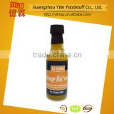 price competitive 50ml glass bottle Yellow Hot Chili Sauce brands Chinese manufacturing Certified with HACCP and ISO