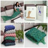 swaddle blanket mermaid tail blanket Acrylic blanket with packing box                                                                                                         Supplier's Choice