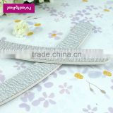 Cheap sponge white banana shape emery board nail file wholesale 2015