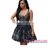 online shopping india Black Contrast Illusion Tutu Skirt female clothing dress