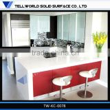 2014 China Factory Supply Competitive Price Corian Marble Black and Red Kitchen Countertop