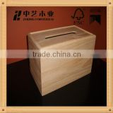 2016 FSC China Professional manufacturer unfinished tissue holder high quality restaurant wooden tissue box