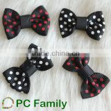 Hot sale 100%polyester pet dog ribbon bows /hair decoration