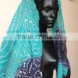 Scarves Stoles & Dupatta For womens suits In Cotton Tie & Dye Fabrics with Bandhage