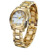 Kingsky KY054 Gold Plated Women Fashion Hand Watch for Girl