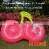 Latest fast delivery PVC cherry fruit float inflatable donut for fun