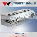 mold design for plastic pp foamed sheet extrusion die head