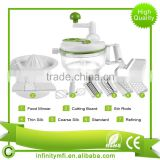 Hot Selling Manual Food Processor Vegetable Chopper Chop Blend Whip Mix Slice Shred Julienne And Juice