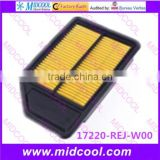 High quality air filter cabinfilter for 17220-REJ-W00 17220REJW00