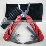Red Multi Pliers Outdoor survival tool Stainless Carbide Hand Knife Set 8 IN 1