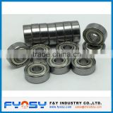 chrome steel ball bearing MR104ZZ miniautre ball bearing 4X10X4MM metric deep groove ball bearing