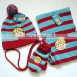 Baby hat scarf glove set